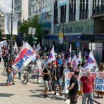 Πλήθος κόσμου στη χθεσινή απεργιακή συγκέντρωση ενάντια στο αντεργατικό τερατούργημα